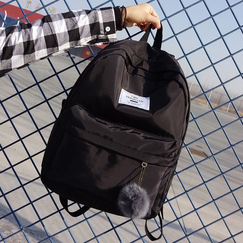 Women Backpack Preppy Suede Backpacks Girls School Bags Nylon Backpack Travel Bag Female Backpack PInk Blue Black Mochila 2018