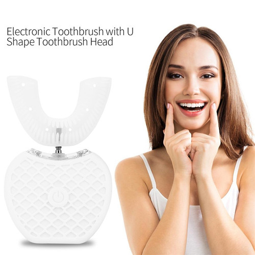 360 Degrees Automatic Toothbrush Silicone U Shape Electric Tooth Brush Ultrasonic Wave TeethBrush Rechargeable USB Charging