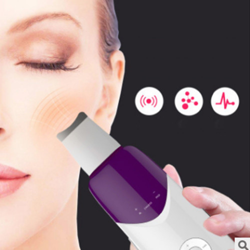 Ultrasonic Facial Scrubber Skin Scrubber Ultrasound Facial Pore Cleaner Anion Ultrasonic Face Skin Peeling Lifting Massager