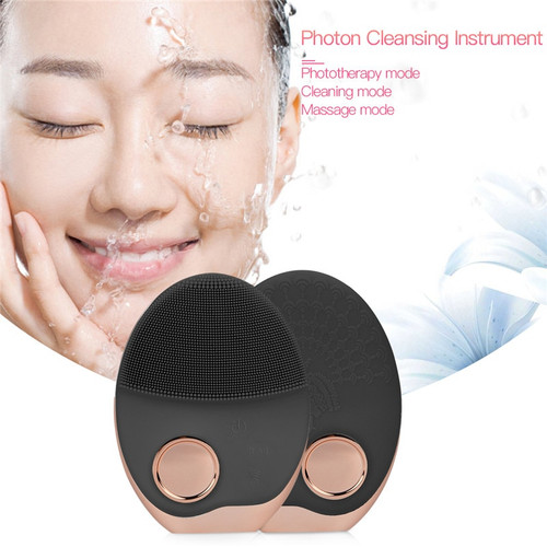 Electric Facial C eanser Wash Face Cleaning Machine Pore Cleaner Acne Remover  Cleansing Massage Face Skin Beauty Massager Brush