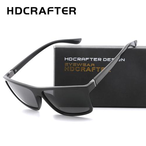 HDCRAFTER 2017 Sunglasses men Polarized Square sunglasses Brand Design UV400 protection Shades Men glasses for driving