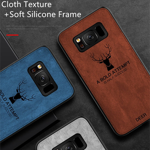 Luxury Retro Cloth Texture Phone Case For Samsung Galaxy S9 S8 Plus Slim Soft TPU Fabric Cover For Galaxy Note 9 Note9 Case Capa