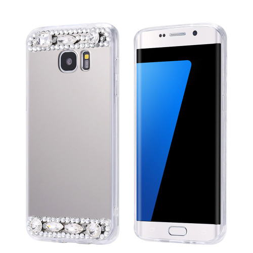 KISSCASE Luxury Glitter Diamond Mirror TPU Cases For Galaxy Not 8 S8 S8 Plus Case Rhinestone Slim Cover For Galaxy S7 S6 Edge