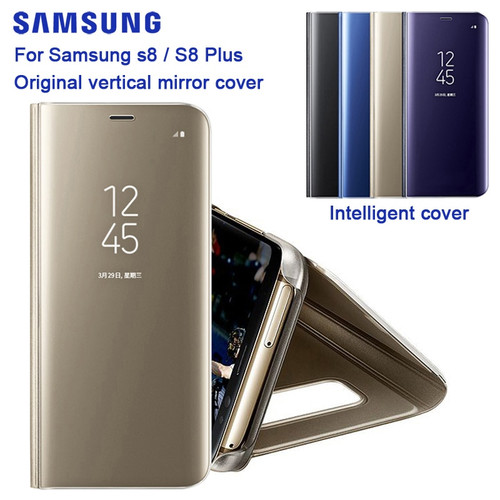 Original Samsung Mirro Cover Clear View Phone Case EF-ZG955 For SAMSUNG Galaxy S8 G9500 S8+ S8 Plus SM-G955 Rouse Slim Flip Case