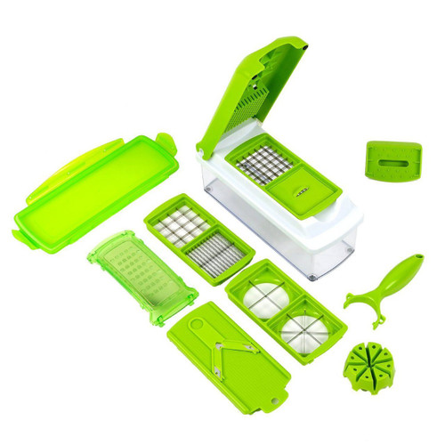 Nicer Dicer Plus Multi Chopper Vegetable Cutter Fruit Slicer (10 Pcs Set)
