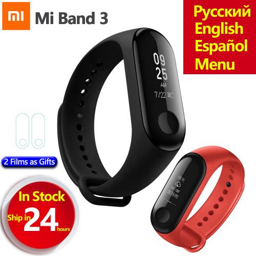Original Xiaomi Mi Band 3 Miband 3 Smart Wristband Bracelet OLED Touch Screen Fitness Tracker Heart Rate Monitor Mi Band 3