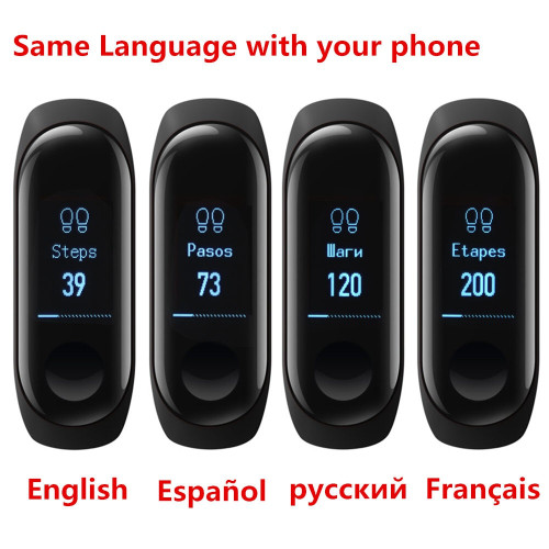Original Xiaomi Mi Band 3 Miband 3 Smart Wristband Bracelet OLED Touch Screen Fitness Tracker Heart Rate Monitor Mi Band 3