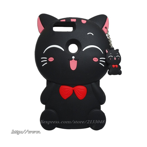For Huawei Honor 9 Lite Case Honor9 Lite Case 3D Cartoon Lucky Cat Cover Case For Huawei Honor 9 Lite 9Lite Silicon shell