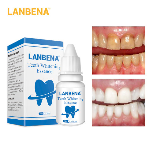 LANBENA Teeth Whitening Essence Product Dental Oral Hygiene Cleaning Powder Serum Removes Plaque Stains Tooth Dental Tools Smile (LANBENA TEETH WHITENING )