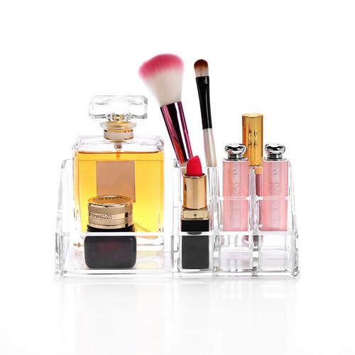 Acrylic Makeup Drawer Type Storage Box Case Holder Brush Pen Organizer Bathroom counter dresser holds Storage supplies