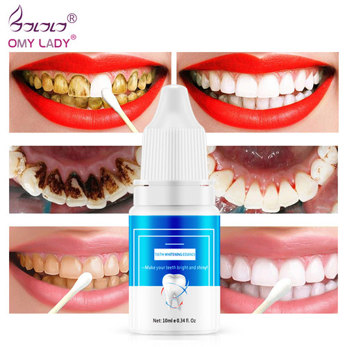 OMYLADY Teeth Whitening Essence Powder Oral Hygiene Cleaning Serum Removes Plaque Stains Tooth Bleaching Dental Tools Toothpaste