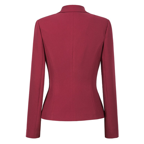 Wine Red Black Women Blazers And Jackets 2018 New Autumn Fashion Single Button Blazer Femenino Office Ladies Blazer Coat Zevrez