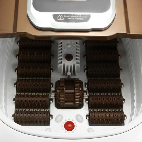 Automatic Foot massage Barrel Bath Bubble  Vibration Roller heating Soaker Pedicure Massage Machine Foot Spa Bath Time Set