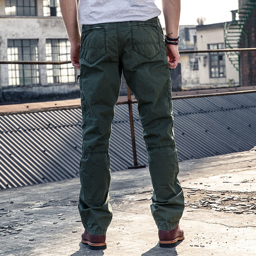 Multi-Pocket Men's Military Cargo Pants Loose Style Men Pants Tactical Casual Long Trousers Male Joggers Zip Fly Size 29-38