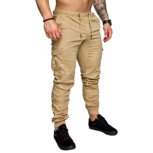 Plus Size 3XL Cargo Pants Men Joggers Casual Cotton Fitness Workout Tactical Sweatpants Casual Stretch Military Long Trousers A4