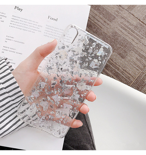 Gimfun Pink Sequins Crystal Soft Tpu Phone Case for Iphone X Anti-knock Clear Glitter Case for Iphone 6 7 8 Plus XR MAX Cover