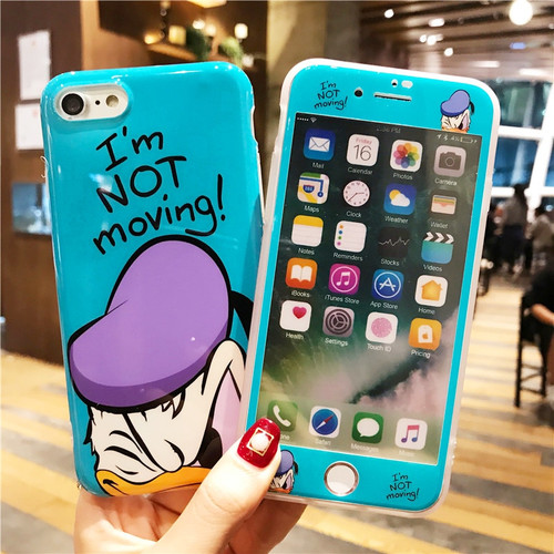 360 Full Cover Cute Cartoon Case & Screen for IPhone X 6 6S 7 8 Plus Iphonex 7plus 8plus Mickey Minnie Phone Case Topolino Coque