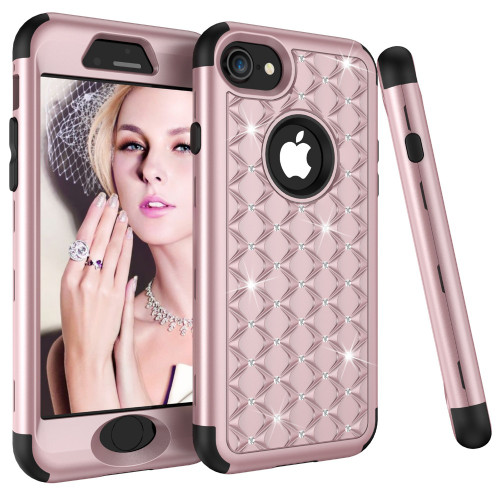 Shockproof Armor Phone Cases for iphone X XR XS XS Max 6 7 8 plus Cover for Samsung Galaxy Note 8 Cover Diamond 360 Case