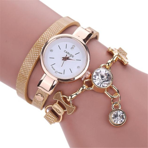 2018 Fashion Women Watch Bracelet Leather Ladies Watch With Rhinestones Analog Quartz Dress Wrist Watches Relogio Feminino Gift