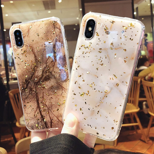 Luxury Foil Marble Phone Case For iphone 6S Case For iphone X 8 7 6 Plus Cases Fashion Cute Back Cover Ultra Slim Soft TPU Coque
