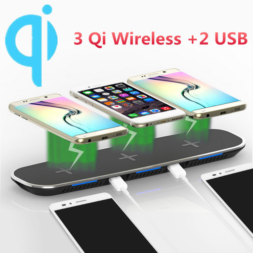 3 in 1 Multifunction Qi Wireless Charger Dock For iPhone 8 X for Samsung S8 S7 Car Phone Holder Desk Phone Charging Dock Pad Mat