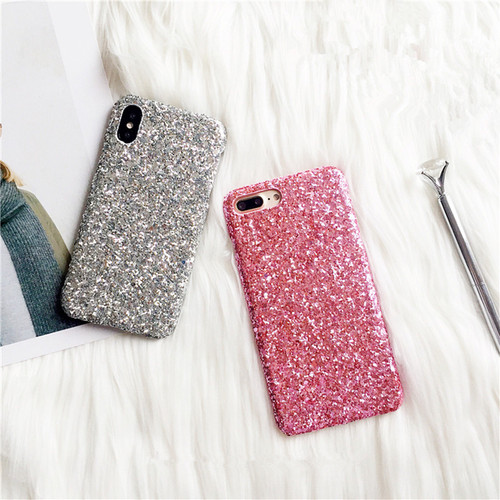 STROLLIFE Fashion Shining Flash Sequins Glitter Phone Case For iPhone X 8 7 Plus 6S Ultra Slim Bling Hard Shell Cover Capa Coque
