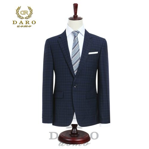 2018 DARO Mens Suit terno Slim Fit Casual one button Fashion Grid Blazer Side Vent Jacket and Pant for Wedding Party (DR8038)