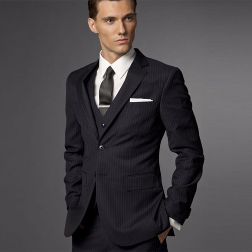 Groom Suit Wedding Suits For Men 2018 Mens Striped Suit Wedding Groom Tuxedo,Tailored 3 Piece Suit Black Wedding Tuxedos For Men