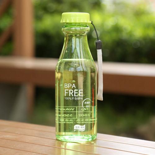 New Modern 550mL 1PC Portable Water Bottle plastic bottle for water Unbreakable Frosted Leak-proof Plastic Kettle Travel Yoga