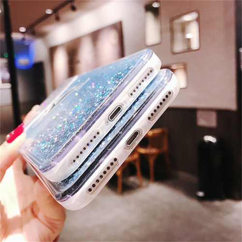 Cartoon Liquid Dolphin Whale Phone Case for IPhone X XR XS Max Dynamic Glitter Quicksand Cover for IPhone 8 7 6 S 6s Plus Cases