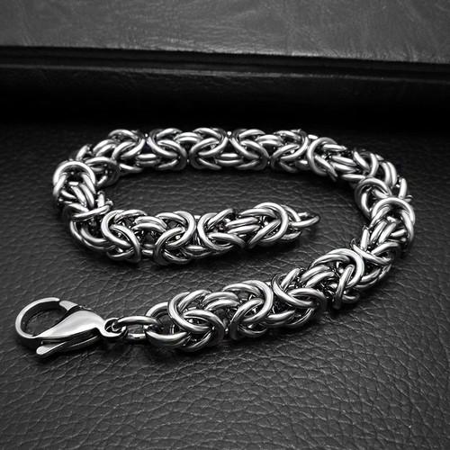 ZORCVENS 8 MM Width Chain Vintage Jewelry Punk Rock Biker 316L Stainless Steel Mens Bracelet Cycle Chains Bracelet For Man