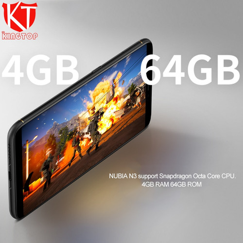 Original ZTE Nubia N3 Mobile Phone 6.01 inch 2160x1080 FHD Octa Core 4G RAM 64G ROM 5000mAh Dual Rear Camera Android Cell Phone