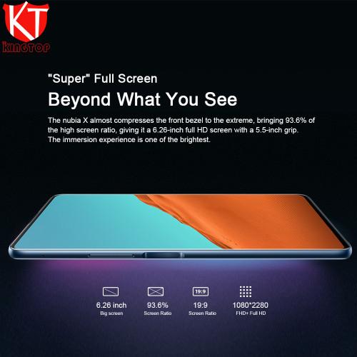 New ZTE Nubia X Mobile Phone 8GB+128GB Snapdragon 845 Octa Core 6.26+5.1 inch Dual Screen 16+24MP Camera 3800mAh Fingerprint