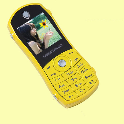 Newmind F3 Bar Sport Car Model Shape Russian Key Quad-band Low Radiation Mini Mobile Cellphone For Children Student Dual Sim