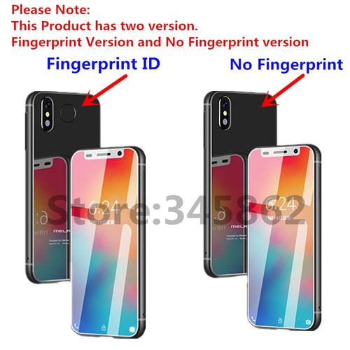 melrose 2019 Super Mini Smartphone Ultra Slim 3.4Inch MTK6739V 1GB 8GB Android 8.1 Fingerprint ID 5MP 4G mobile phone pk s9 plus