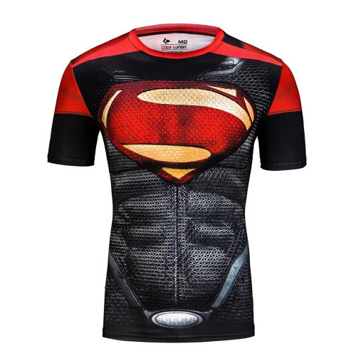 Top quality 206 compression t-shirts Superman/Batman/spider man/captain America t shirt men fitness shirts men t shirts
