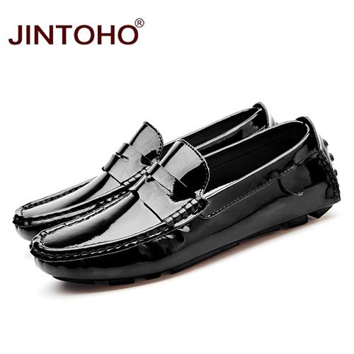JINTOHO Big Size Men Leather Shoes Slip On Men Loafers Fashion Casual Men Shoes Male Flats Shoes Luxury Brand Designer Shoes