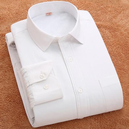 Men Warm Long Sleeved Shirt Large Size 6XL 7XL 8XL Winter Solid Color Casual Men's Shirts Slim Fit Mens Dress Shirt Men Clothes