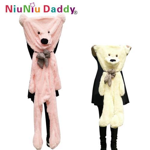 Niuniudaddy 60cm to 200cm giant bear skin toy plush Teddy Bear bearskin plush fabric plush toy 5 colors free shipping