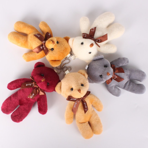 12Pcs/Lot 12cm Bear Plush Toys Mini Teddy Bear Dolls Small Gift for Party Wedding Present Pendant Cute Teddy Doll