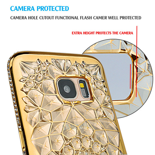 For Samsung Galaxy S7 Edge Case Glitter Crystal Rhinestone Bling TPU Coque For Samsung S7 S8 S8 Plus S9 S9 Plus Cover Diamond