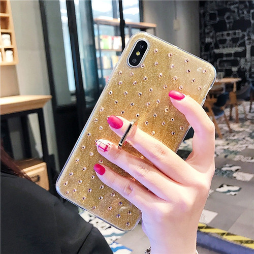 360 Ring Case For iphone 7 8 plus XS Max iphone X 10 8plus Soft Bling Glitter Diamond Case For iphone XR 6 S 6S plus Coque Cover