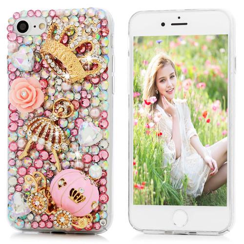 YOKIRIN Bling Rhinestone Case For iPhone 7 Luxury 3D Handmade Diamond Glitter Crystal Hard PC Clear Back Cover For iPhone 7