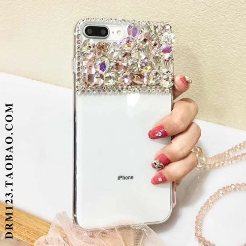 3D Bling Glitter Rhinestone Lady Cover For Huawei Honor 4C 4X 5A 5X 6 6A 6Plus 7 7I 8 9 Lite V8 V9 V10 Pro Nova 2S Diamond case