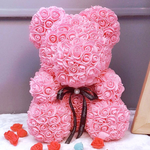 Vip Price Drop Shipping 25\40 Red Teddy Bear Rose Flower Artificial Christmas Gifts for Women Valentine's Day Gift Plush Bear