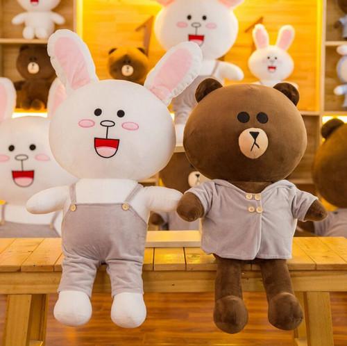 Hot new brown bear plush rilakkuma plush toy teddy bear peluche stuffed animal doll pelucia birthday gift toys for children