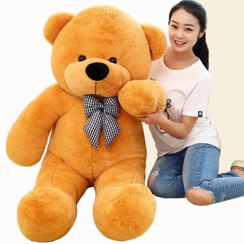 1 piece light brown High quality Low price stuffed Plush toys large size100cm teddy bear 1m/big bear doll /lovers birthday gift