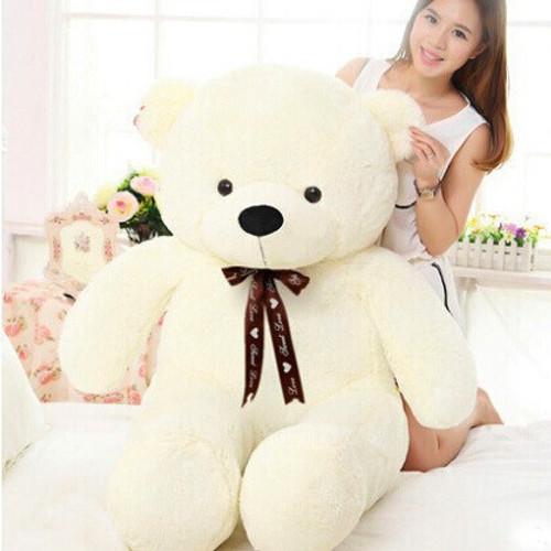 140cm Lovely Cute Stuffed Teddy Bear Plush Toy Big Embrace Full Bear With Filling Children Doll Girls Gifts Birthday gift