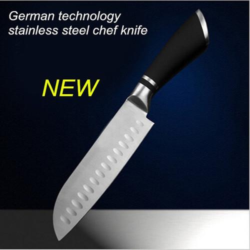 Free shipping stainless steel MIKALA Japanese style kitchen knife chef slicing knife fruit vegetable knife Santoku knife