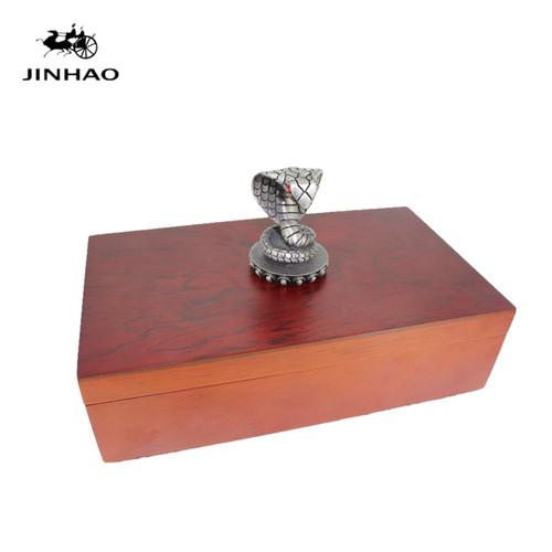 Jinhao Roller Ball Pens Golden Snake 3D Pattern Ballpoint Pen with Original Wood Box Free Shipping